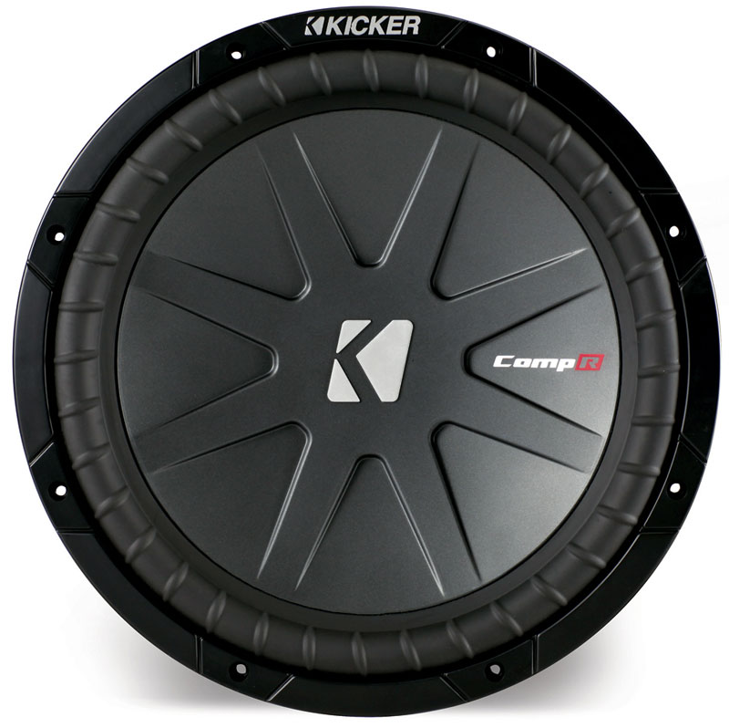 "Kicker Cwr12-4 Car Audio 12"" Comp R Subwoofer 1000 Watt Dual 4 Ohm Sub Speaker - Factory Certified Refurbished"