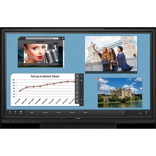 Sharp 60IN 1080P 3K:1 HDMI USB DP D-SUB 6MS HD Touch Built In WL PNL603W