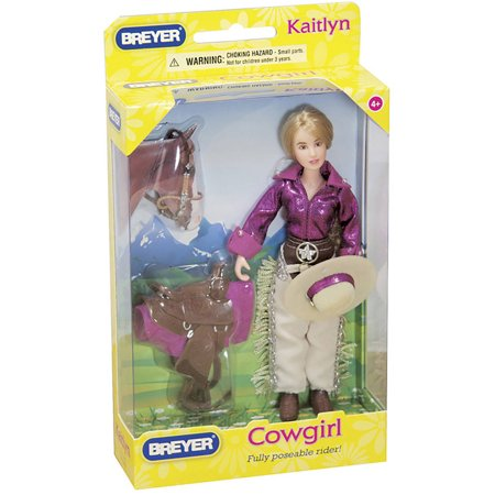 Breyer Classics Kaitlyn Cowgirl - Rider for Classics Toy Horses (1:12 Scale) - Halloween Fancy Dress For Horse And Rider