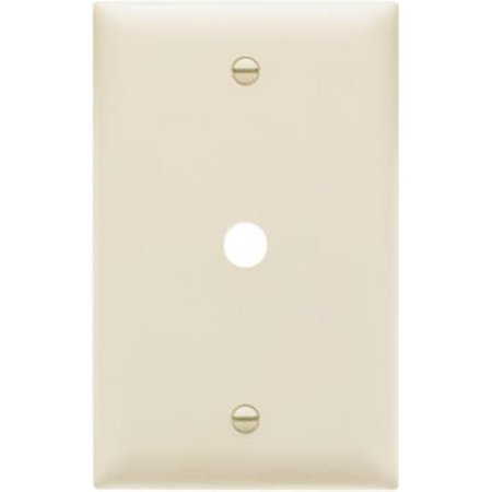 TP11LACC15 Telephone Hole Opening Wall Plate, 1 Gang, Light (Holes Almond)