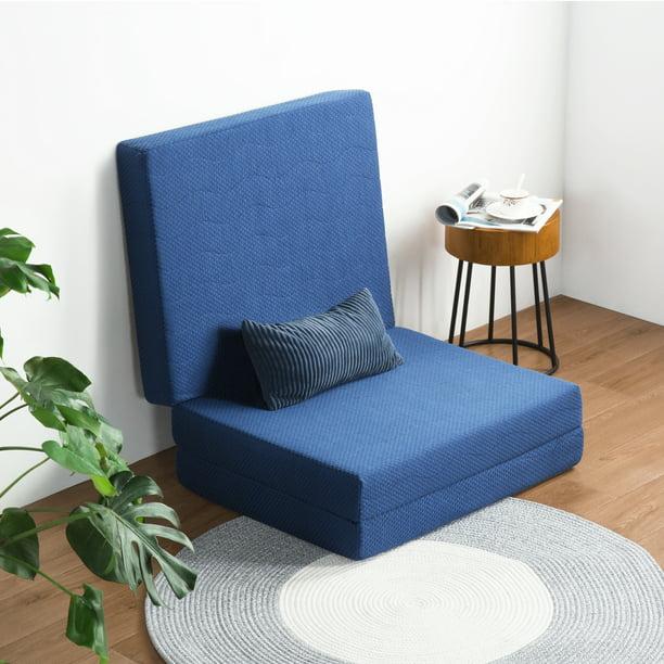 Granrest 4 Gel Memory Foam Tri Fold Topper Sofa Bed Walmart Com Walmart Com