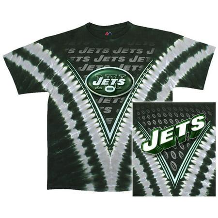 separation shoes 41174 9e515 NFL: Jets Logo V-Dye Apparel T-Shirt - Tie Dye