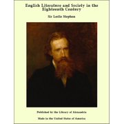 English Literature and Society in the Eighteenth Century - eBook