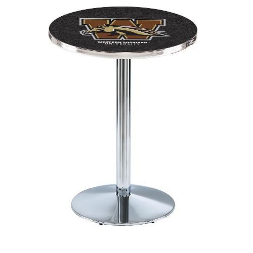 NCAA Pub Table by Holland Bar Stool, Chrome - WMU Broncos, 36'' - L214