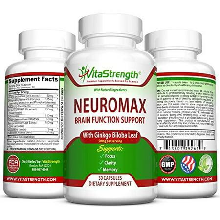 Premium Brain Function Support Enhancer   Natural Mental Focus   Memory Booster Supplement For Concentration  Mental Alertness   Clarity