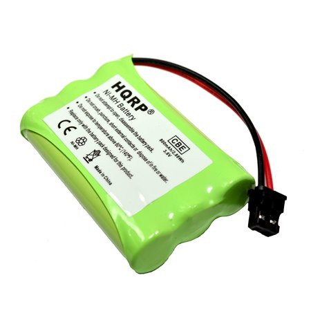 HQRP Cordless Phone Battery compatible with Uniden PowerMax 5.8GHz 30878864022, Powermax 2.4 GHz, GE TL26402, GP 80AAALH3BMX, 80AAALH3BMZ Replacement + HQRP Coaster
