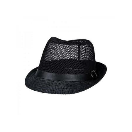 8f7ca7463 Men Women Fedora Wide Brim Straw Trilby Cap Panama Summer Beach Sun Hat