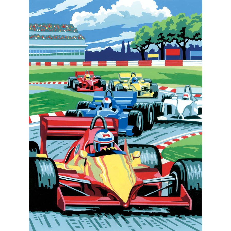 """Junior Small Paint By Number Kit, 8.75"""" x 11.75"""", Grand Prix"""