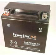 PowerStar PM14-BS-HD-118 Heavy Duty 230Cca 2001-2003 Aprilia Sl Falco Ytx14-Bs Ytx14Bs Motorcycle Battery