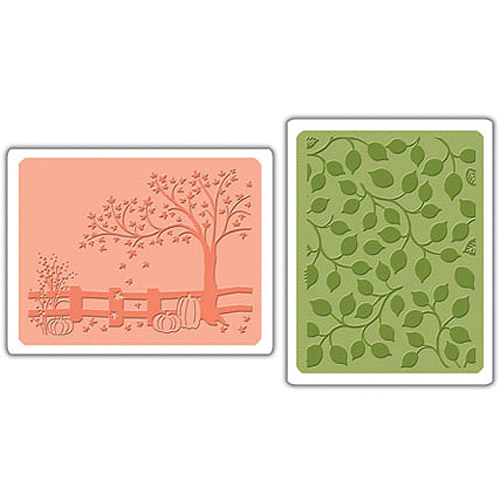 Sizzix Textured Impressions Embossing Folders, Fall