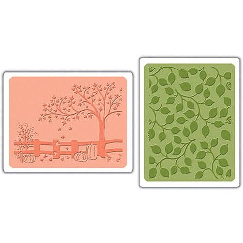 Sizzix Textured Impressions Embossing Folders, Fall