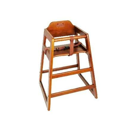 Winco - CHH-104 - Walnut Wood High Chair (Wood High Chair)