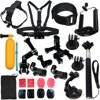 LotFancy 23-in-1 Sports Accessories Kit Bundle Attachments for Gopro Hero 5 4 3+ 3 2 1 SJ4000 SJ5000 HD Action Video Cameras DVR LotFancy Gopro accessories kit includes selfie stick monopod, chest mount harness, head strap, car mount, bobber hand grip, 3-way pivot arm, tripod mount adapter, headlebar seatpost and pivot arm, wrist strap, phone bracket clamp, J-hook buckle mounts, flat adhesive mounts and pads, curved adhesive mounts and pads, small nylon bagAll the gopro accessories you need in one bundleGopro accessory bundles fit go pro cameras perfectlyGopro attachments are helpful tool for various outdoor activities, cycling, motorcycling, running, diving, skiing and such1-Year Warranty: Money-back satisfaction guarantee