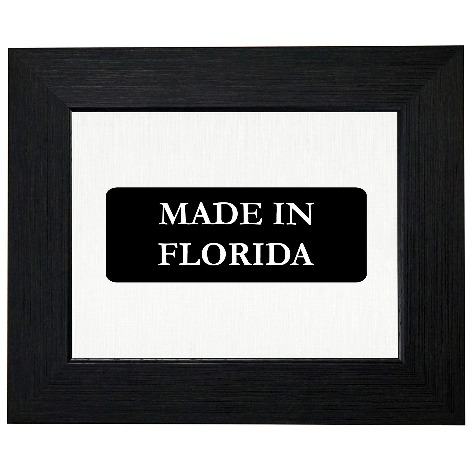 Hip Made In Florida State Pride Framed Print Poster Wall or Desk Mount Options