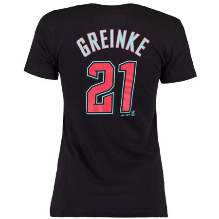 Zack Greinke Arizona Diamondbacks MLB Majestic Women's Black Name & Number Crew Neck Jersey T-Shirt
