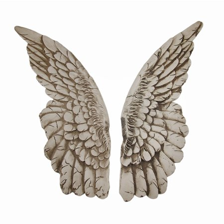 Double Angel Wing (Wings of Protection Pair of Aged Finish Hanging Angel)