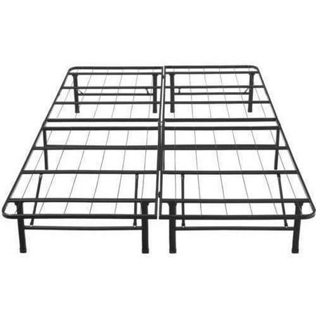 premier 14 high profile platform metal base foundation bed frame with under bed storage easy assembly multiple sizes walmartcom - Metal Platform Bed Frame