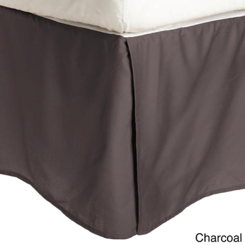 Wrinkle Resistant Solid Bedskirt Twin XL - Charcoal