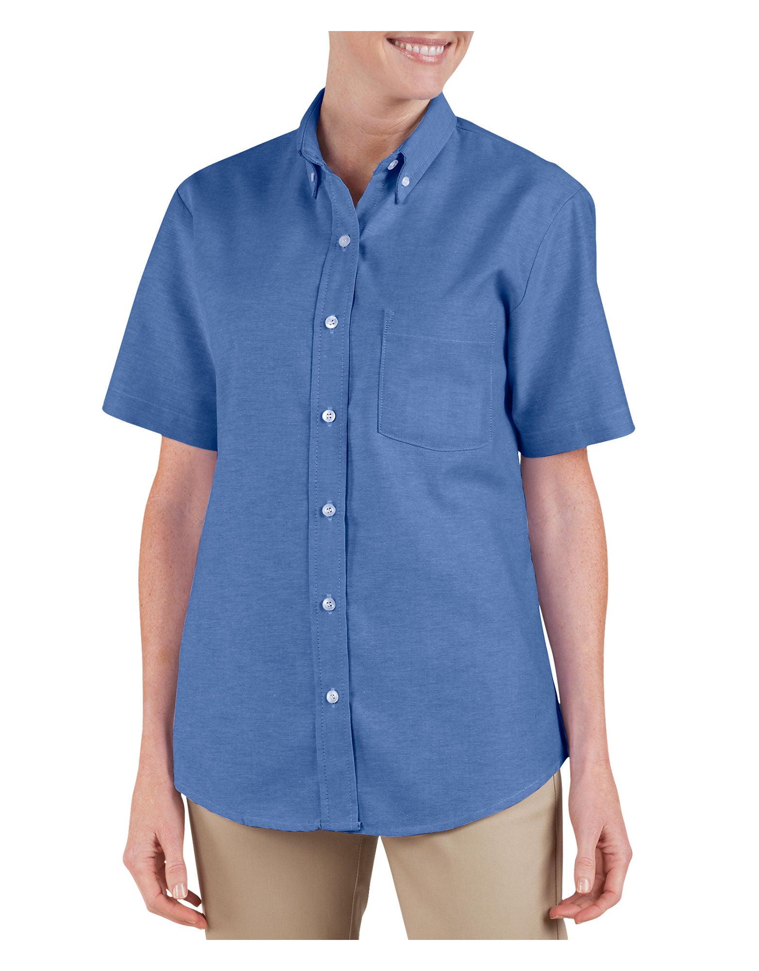 Dickies Womens Button-Down Oxford Shirt - Short Sleeve - Walmart.com