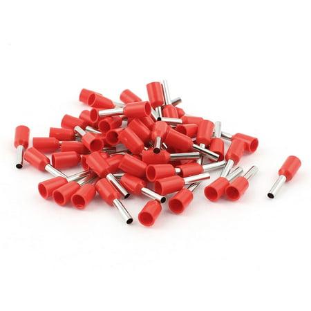 Jack Ferrule (Wire Copper Crimp Insulated Ferrule Pin Cord End Terminals AWG16 50Pcs Red)