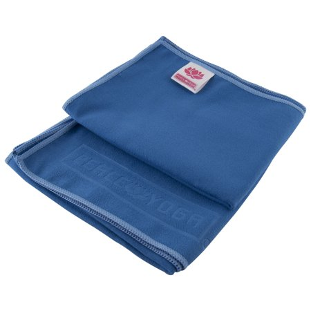 """Peace Yoga Non Slip Suede Exercise Towels Blue [15"""" x 24""""] (2 pack)"""