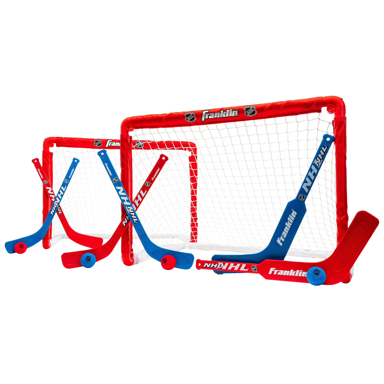 Details about  /Indoor Mini Hockey Goal Set 2 Sticks Foam Ball Net Kids Child Home Play Fun