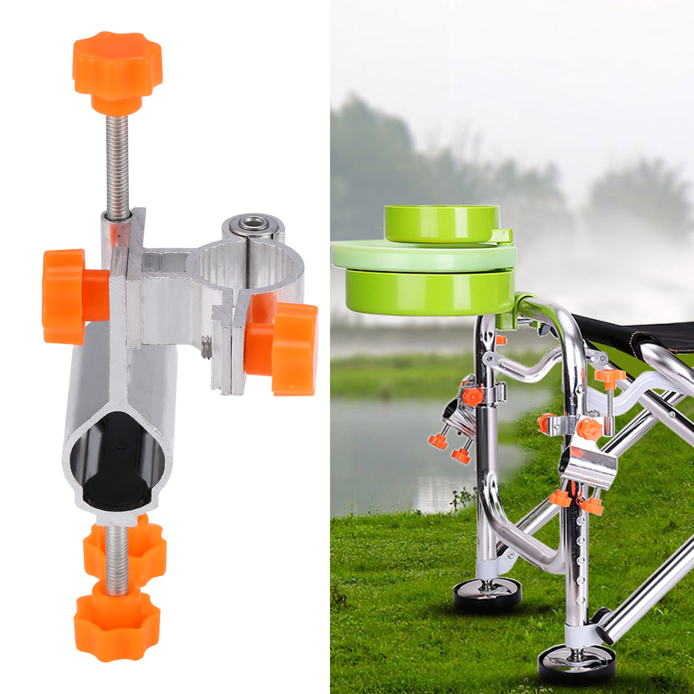 Durable Aluminum Alloy Fishing Rod Pole Holder Chair Clamp Bracket Tackle Accessory, Fishing Tackle, Fishing Rod Holder Clamp