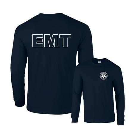 EMT Long Sleeve T-Shirt Emergency Medical - Emt Uniform Shirts