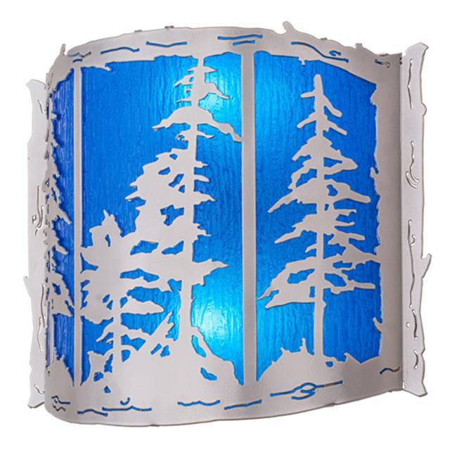 Meyda Tiffany 158830 15 in. Tall Pines Wall Sconce, Nicke...