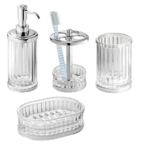 Interdesign alston bath accessories combo c4 for Bathroom accessories combo
