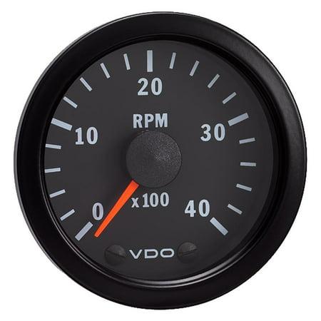 "VDO Vision Black 4,000 RPM Tach 2-1-16"" - 12VDC - image 1 of 1"