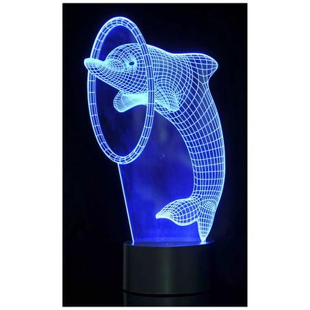 Dolphin Plastic Lights (Optical Illusion 3D Dolphin Lighting)