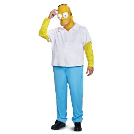 The Simpsons Homer Men's Adult Halloween Costume, One Size, (42-46)