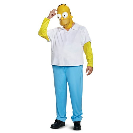 Simpson Halloween Costume (The Simpsons Homer Men's Adult Halloween Costume, One Size,)