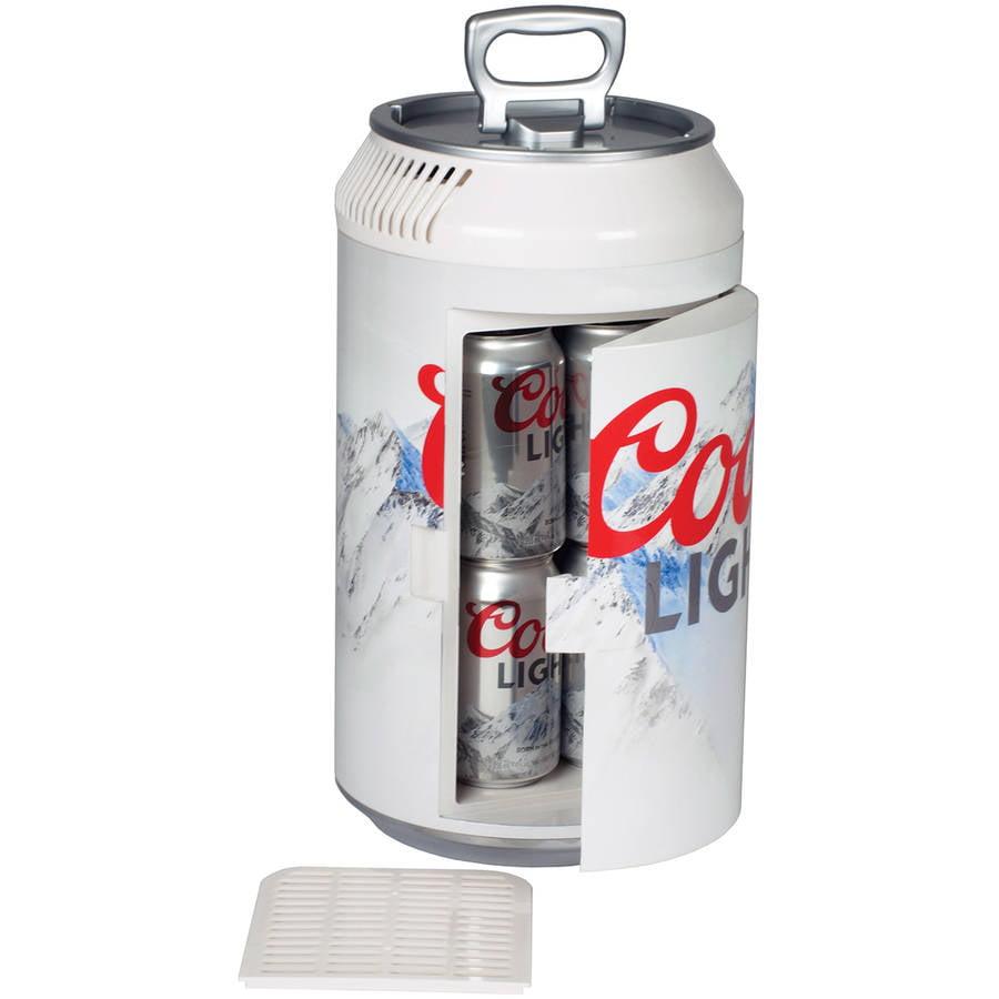 Koolatron Coors Light 8 can Electric Can Shaped Beverage Cooler 110 volt & 12 volt use CLMC06