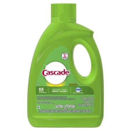 (Cascade Gel Dishwasher Detergent, Lemon Scent, 120 ounces)
