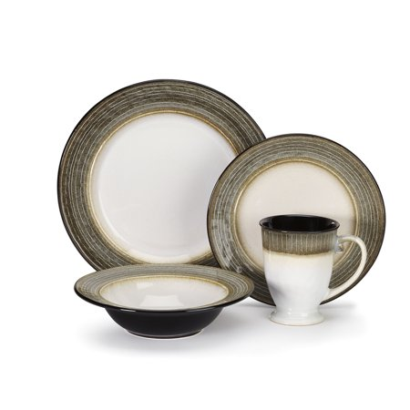 Cuisinart Loire Collection Stoneware 16-Piece Dinnerware Set - Overstock Dinnerware