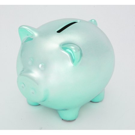 Mini ceramic piggy bank ganz blue piggy bank for Mini piggy banks