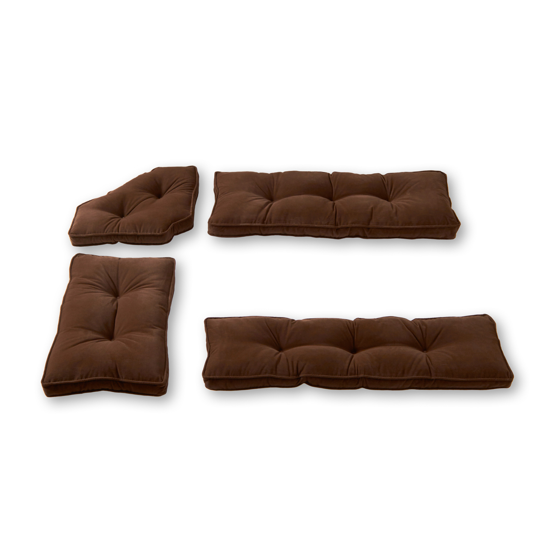 Hyatt 4-Piece Solid Microfiber Kitchen Nook Cushion Set