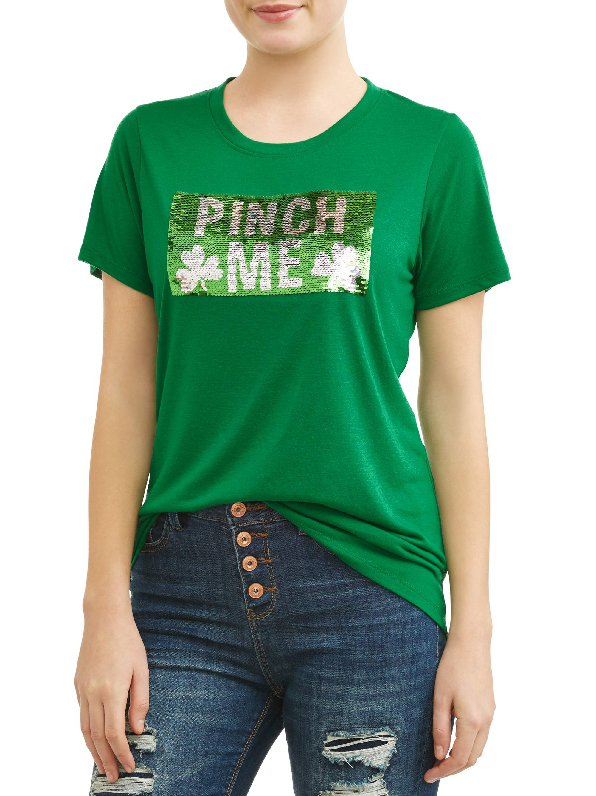 Juniors' St. Patrick's Day Short Sleeve Graphic T-Shirt