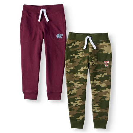 Boys Red Corduroy Pants (365 Kids from Garanimals French Terry Jogger Pants, 2-Pack (Little Boys & Big)
