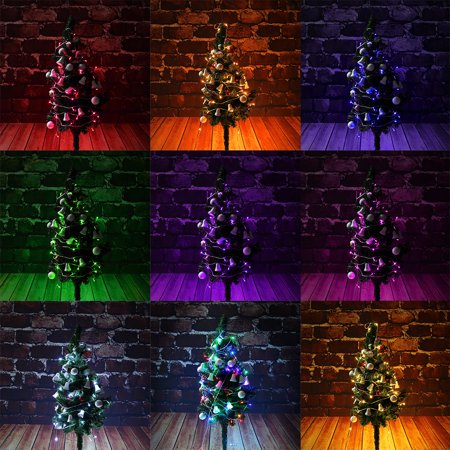 Waterproof IP65 10M 33FT 100 LED 8 Modes LED Fairy String Lights Lamps Indoor Outdoor Decoration For Christmas Holiday Wedding Party Curtain Window 110V