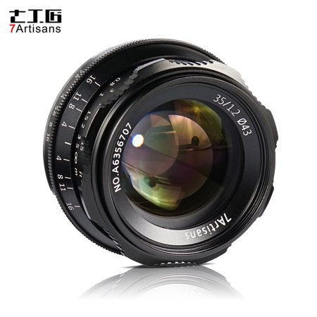 7artisans 35mm F1.2 Manual Focus Camera Lens Large Aperture APS-C for Sony A7/A7II/A7R/A7RII/A7S/A7SII/A6500/A6300 E-Mount Mirrorless