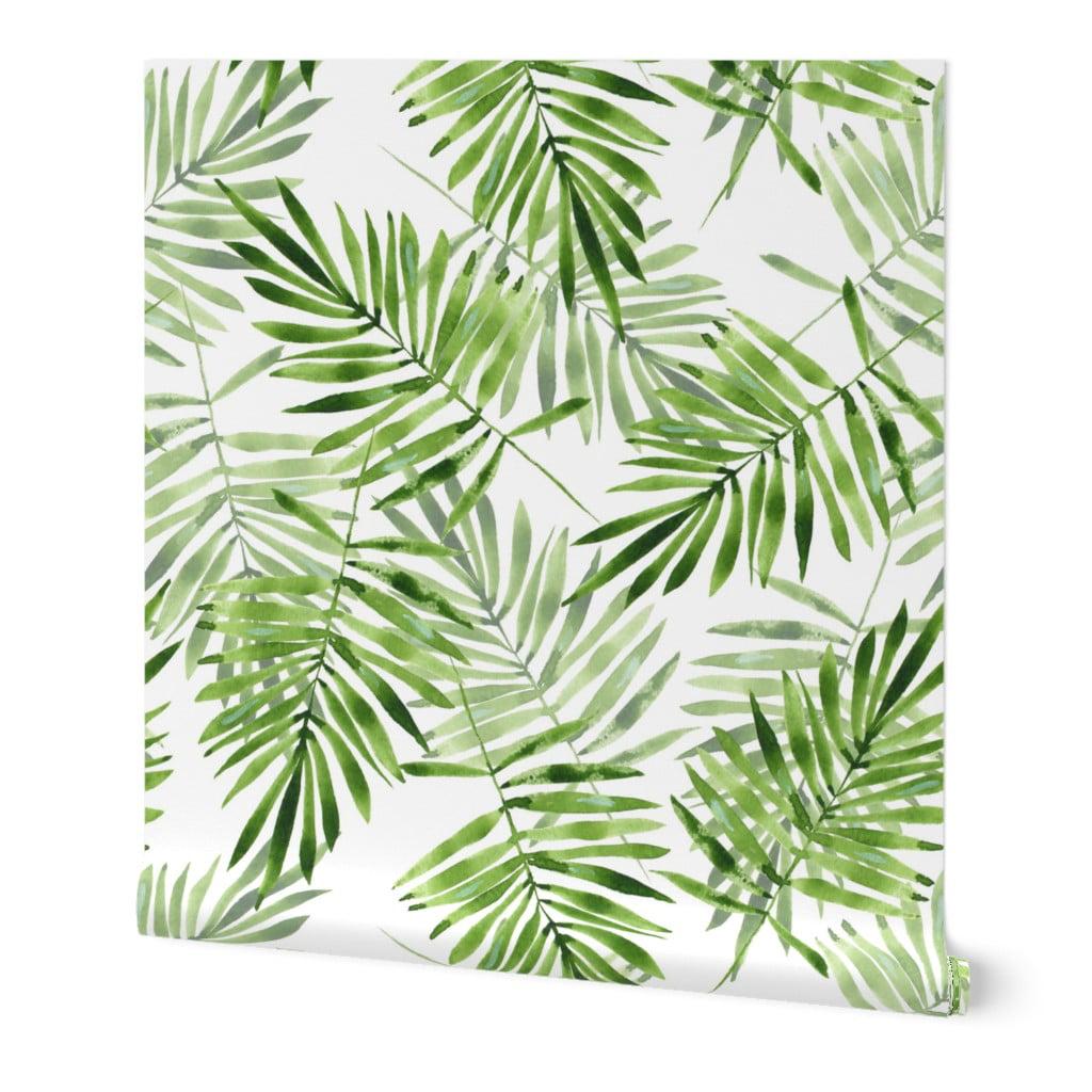 Wallpaper Roll Botanical Jungle Plants Fern Ferns Leaves 24in x 27ft