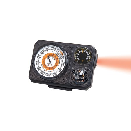 Navigat'r 6 - Six-Function Dashboard Altimeter, Barometer, Ball Compass, Thermometer, LED Light, Signal Mirror | Perfect for Car (Dashboard Altimeter)