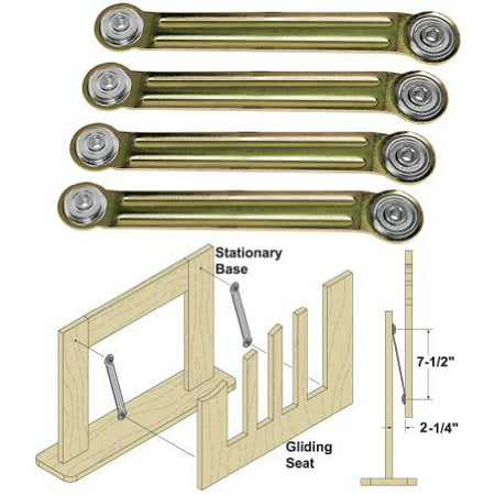 Miscellaneous Hardware Kit - Woodtek 162491, Hardware, Furniture, Miscellaneous, Glider Rocker Bearing Arm Assembly, 4 Each