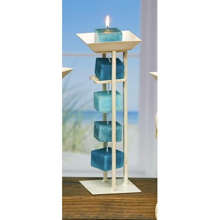 """Pack of 6 """"Island Sky"""" Aromatherapy Scented Rope Candles"""