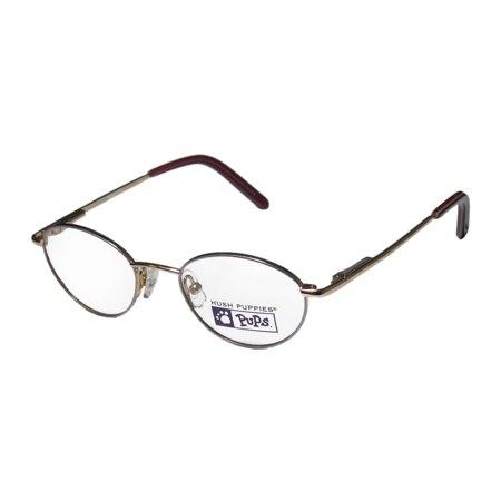 46363152a4 New Hush Puppies 528 Unisex Boys Girls Kids Designer Full-Rim Purple   Gold  Stylish Elegant Kids Size Frame Demo Lenses 42-16-120 Eyeglasses Glasses ...