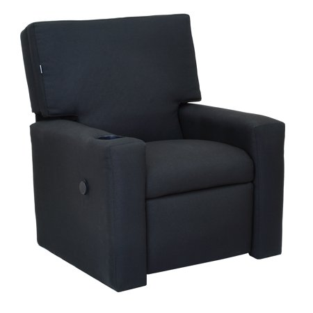 The Crew Furniture® Modern Kids Recliner with USB Charger & Cupholder, Multiple Colors