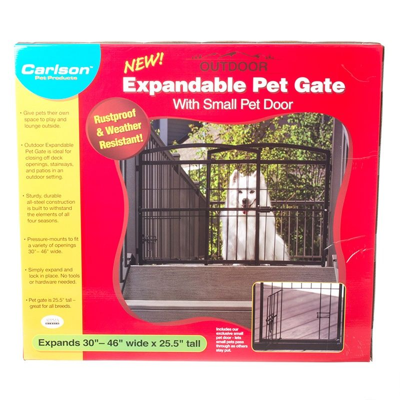 Carlson Pet Gates Weatherproof, Outdoor Pet Gate With Door